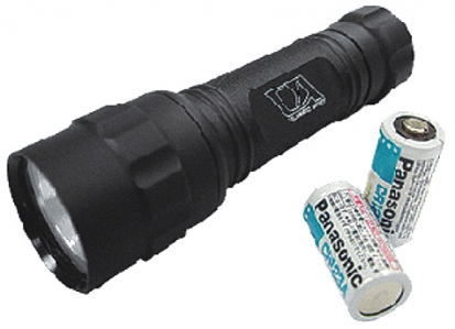 Tactical Flashlight w/ 6V Xeon Light Bulb - Black Color