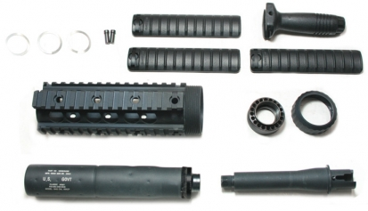 SR25 Rail System w/ Barrel Set & Silencer - (Inner Barrel Length:111mm)