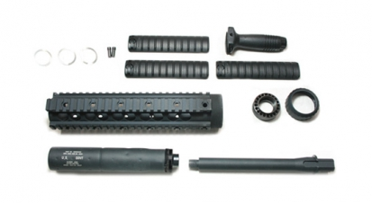 SR25 Rail System w/ Barrel Set & Silencer -(Inner Barrel Length: 200-364mm)
