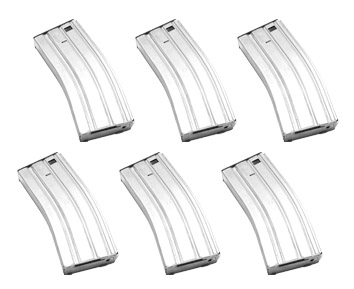 Magazine for M16 (300Rd) Silver - 6pcs/set